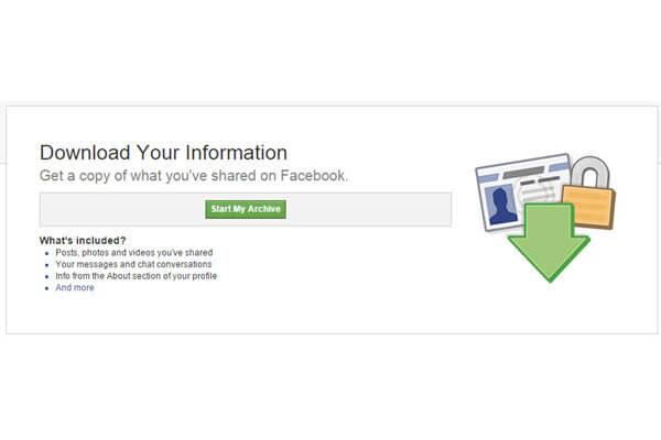 วิธีดึงข้อความและรูปภาพใน Facebook กลับมาเก็บบนเครื่อง