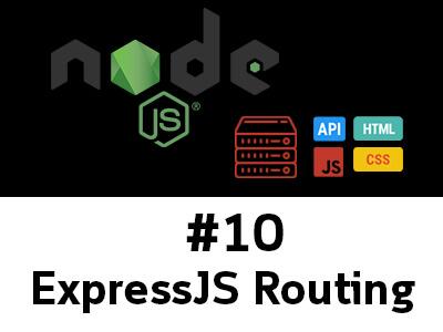 สอน Node.js ตอนที่ 10 การกำหนดเส้นทาง Routing ใน ExpressJS