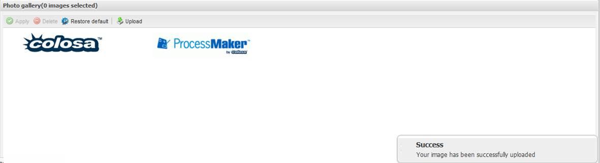 Processmaker - สอน processmaker ตอนที่ 3.3 การตั้งค่า processmaker - Logo