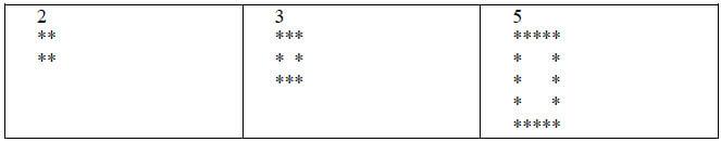 Java สอนเขียนโปรแกรม วาดรูปสี่เหลี่ยมกลวงโบ๋