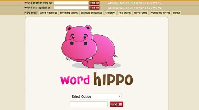 หาคำภาษาอังกฤษที่คุณต้องการด้วย WordHippo